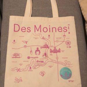 Bags - Des Moines canvas tote bag